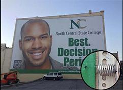 North Central State College wallscape