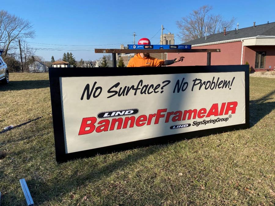 Finished Installation of the BannerFrameAIR system